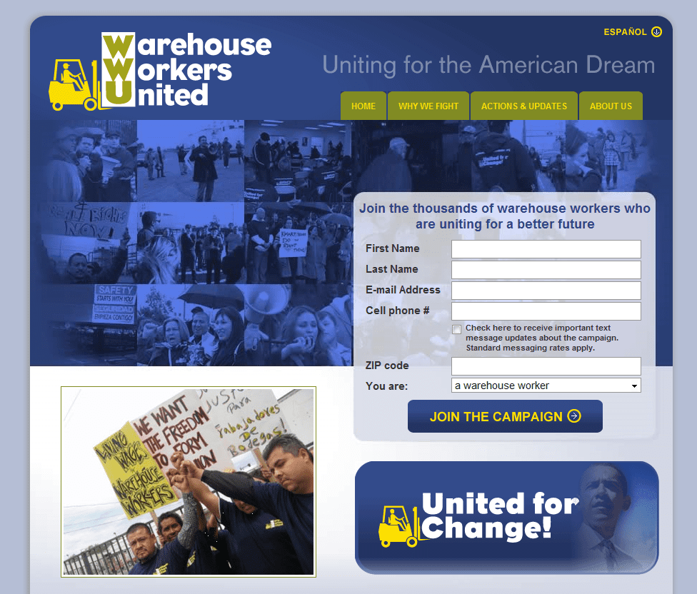 Eight union websites worth checking out (2010)   Alex White