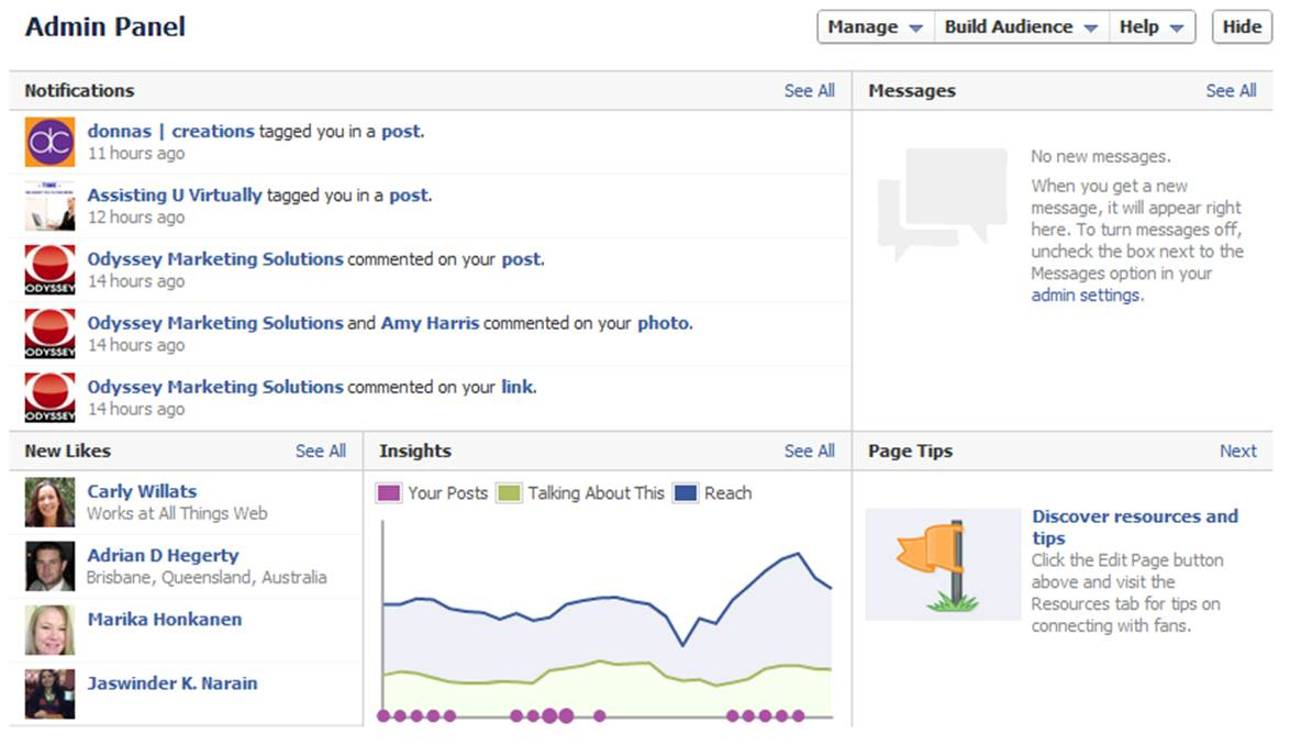 Facebook Admin Dashboard