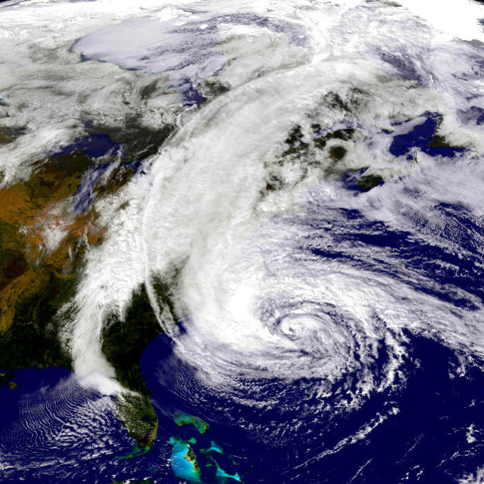 Hurricane Sandy - NASA Satellite Photo