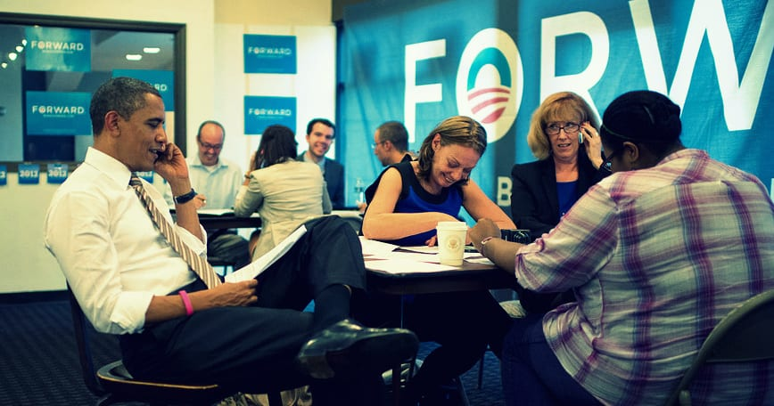 President Obama calling voters in Chicago, Illinois—October 25th