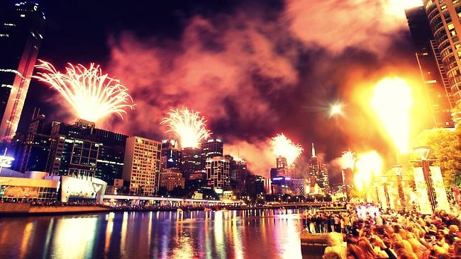 Melbourne's 2012 New Years Eve fireworks