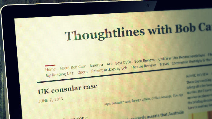 Bob Carr's Thoughtlines Blog
