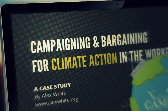 Climate Change Campaigning for Unions