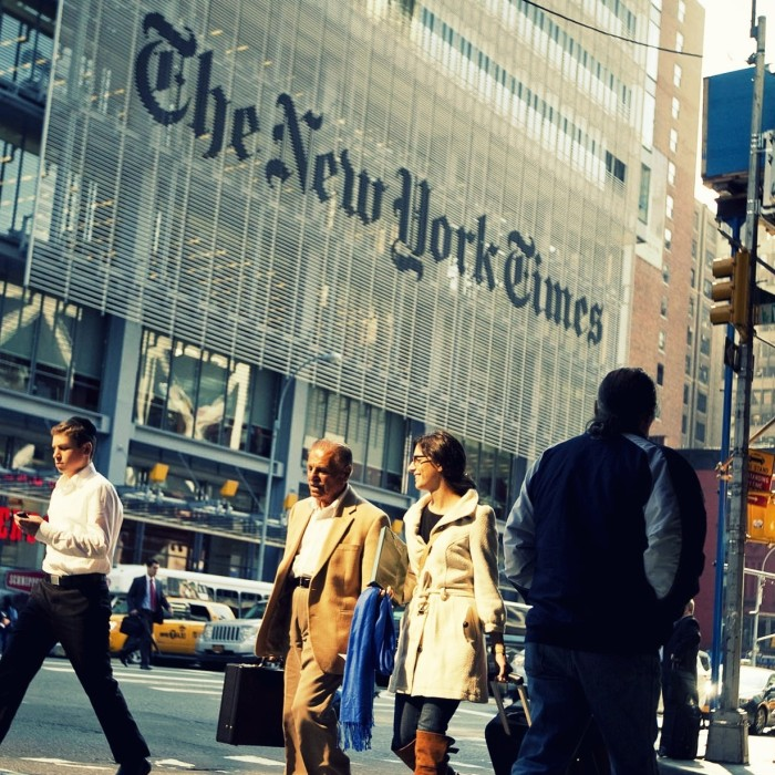 New York Times and social media advice