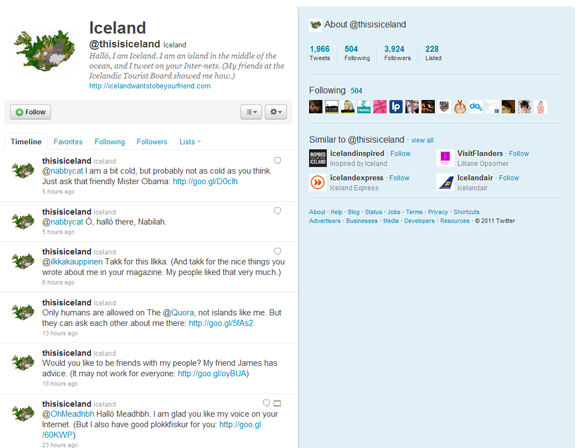 This is Iceland on Twitter