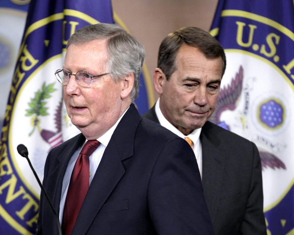 Mitch McConnell with John Boehner