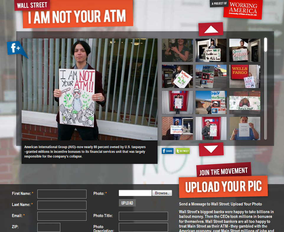 Wall Street - I am not your ATM - Working America