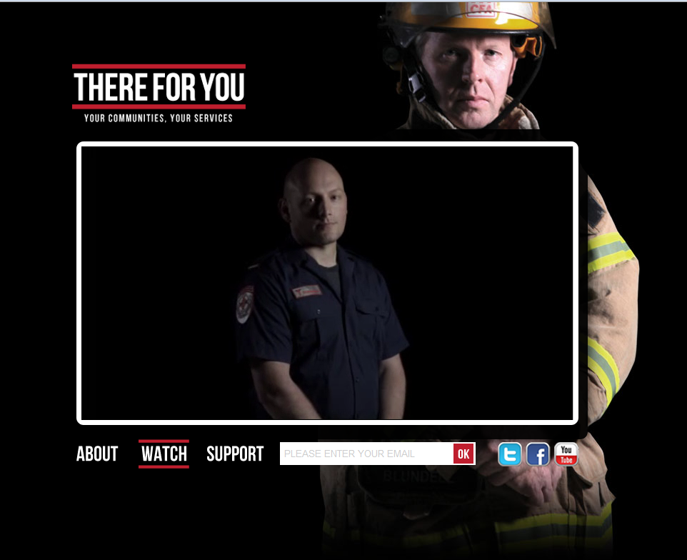 There for You - public wages campaign website