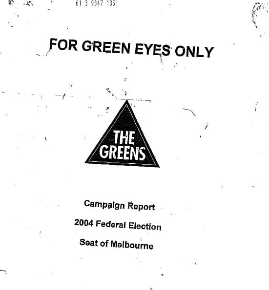 Greens Party - for Greens Eyes Only