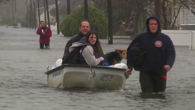 Flooding from Hurricane Sandy in Long Island, NY