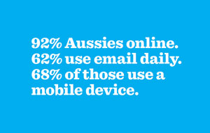Australian email usage stats