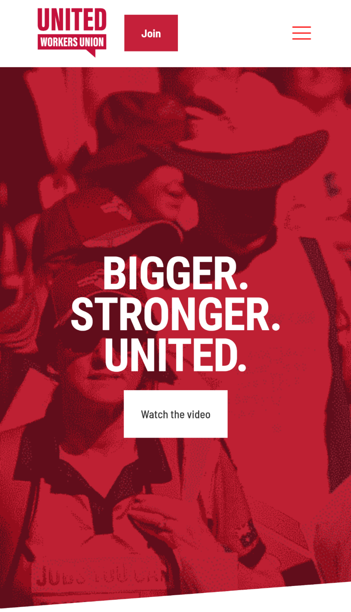 United Workers Union website